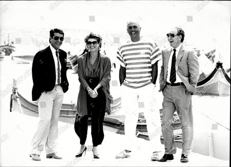 The Cast Of Howard's Way On Location In Malta Left To Right Tony Anholt Jan Harvey Stephen Yardley And Ivor Danvers.