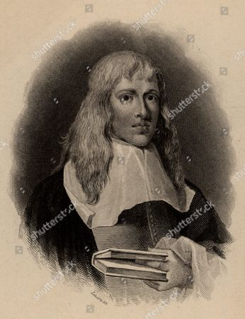 Francis Willoughby (1635-1672) English naturalist and icthyologist. His Historia piscium, edited by John Ray, was published by the Royal Society in 1686. From The Naturalist's Library edited by William Jardine (Edinburgh and London 1839-1854). Engraving.