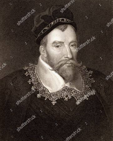 John Maitland, 1st Baron Maitland of Thirlestane (c1545-1595) Scottish statesman. Lord High Chancellor of Scotland: active in establishing the Kirk (Church) as Presbyterian. Engraving.