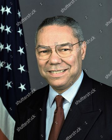 Colin Luther Powell (born 1937) African American soldier and statesman. United States Secretary of State 2001-2005. Formal head-and-shoulders photograph