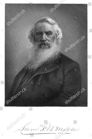 Samuel Finley Breese Morse (1791-1872), American artist and inventor, (1896). Inventor of the first functional electric telegraph , 1835, and with Alexander Bain (1810-1977) of the Morse code. Engraving published New York, 1896.