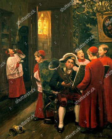 Choirboys' by Paul-Charles Chocarne-Moreau (1855-1931) French artist. Oil on canvas.