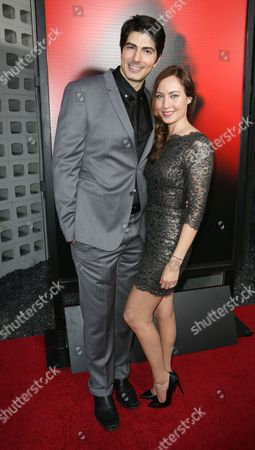 Brandon Routh and wife Courtney Ford