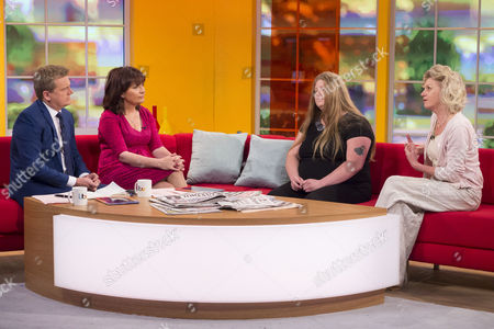Aled Jones and Lorraine Kelly with Clare Bache and Ann Atkins
