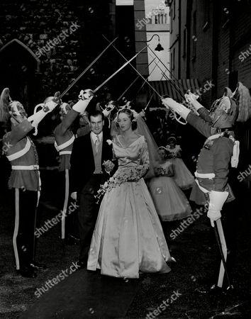 Wedding Of Julie Pinckney And Capt J.d. Kentish Barnes At St Michaels Chester Square.