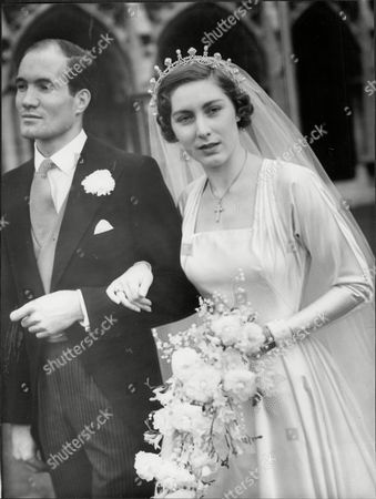 Editorial photo of Wedding Of Alistair Horne And Miss Renira Hawkins At St Margaret's Westminster.