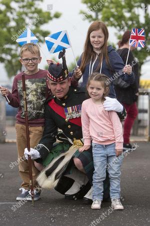 Andrew Carter (9) , Dionne Carter (13) , Brooke Carter, Sergeant Major Daniel Carter of the Argyll and Sutherland Highlanders