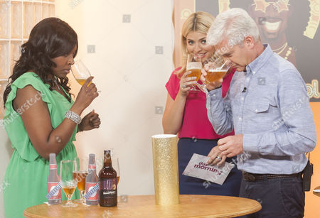 Stock Image of Marverine Cole, Holly Willoughby and Phillip Schofield