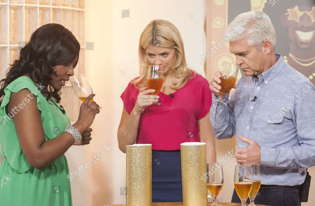 Marverine Cole, Holly Willoughby and Phillip Schofield