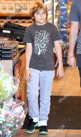 Editorial picture of Chris Robinson and Ryder Russell Robinson at Whole Foods in Brentwood, Los Angeles, America - 13 Jun 2013