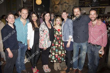 Stock Photo of Sam Troughton, Farzana Dua Elahe, Vicky Featherstone, Debbie Chazen, Laura Elphinstone, Ferdy Roberts and Jonjo O'Neill