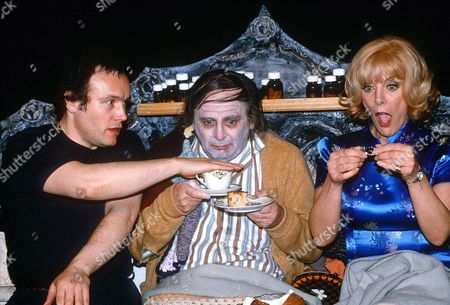 """ADAM ANT, SYLVESTER MCCOY AND AIMI MACDONALD IN """" FUNERAL GAMES """""""