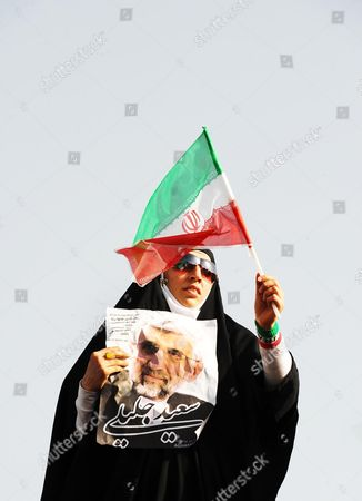 Dr Saeed Jalili supporter during his presidential election meeting in Shahid heydarnia Stadium, Tehran