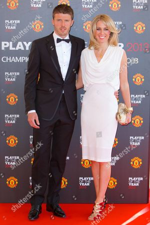 Michael Carrick with his wife Lisa