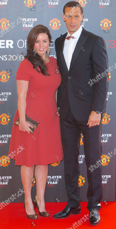 Rio Ferdinand with wife Rebecca Ellison.