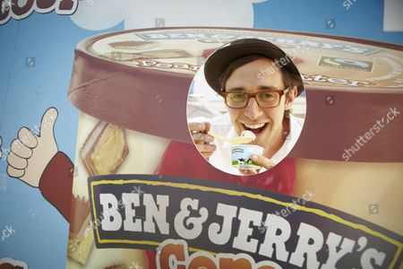 Robbie Boyd poses with some Ben & Jerry's ice cream