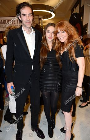 Charles Forbes, guest and Charlotte Tilbury