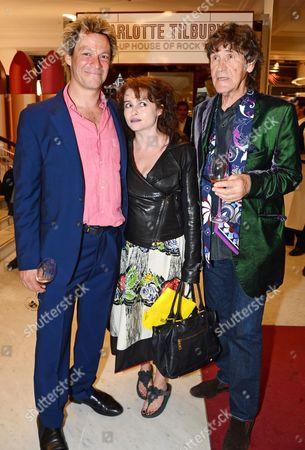 Dominic West, Helena Bonham Carter and Lance Tilbury