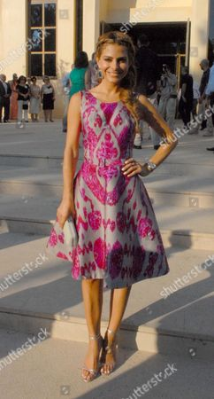 Editorial picture of Maria Menounos becomes godmother at christening of daughter of shipping magnate Leon Patistas and model Marietta Hroussala, Athens, Greece - 15 Jun 2013