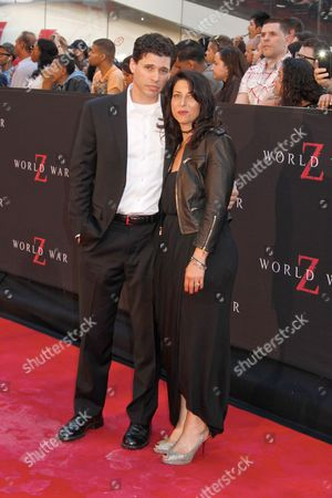 Max Brooks and wife Michelle Kholos Brooks