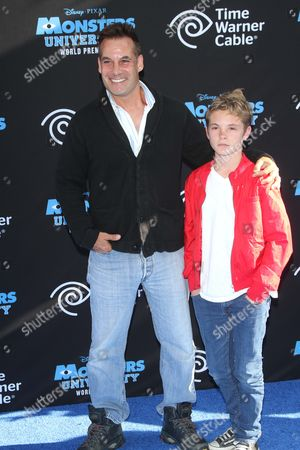 Adrian Pasdar and son