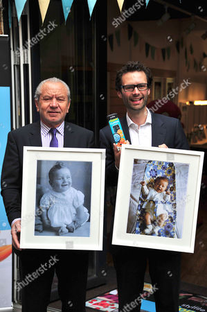 Lord Alan Sugar and Tom Pellereau with childhood photographs