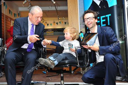 Lord Alan Sugar, Tom Pellereau and child