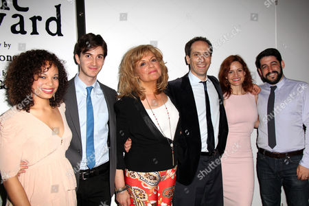 Stock Picture of Michelle Beck, Playwright Daniel Pearle, Caroline Aaron, Peter Grosz, Carla Gugino, Director Evan Cabnet