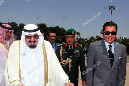 King Abdullah bin Abdul-Aziz Al Saud of Saudi Arabia with Prince Moulay Rachid of Morocco