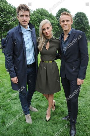 Stock Picture of Greg James, Max Chilton and Chloe Roberts