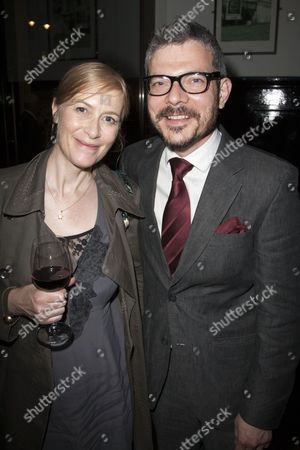 Stock Image of Helen Edmundson and James Biermann (Executive Producer)