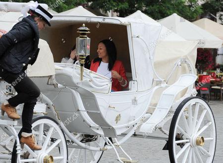 Euro 2012 ? Kaya Hall Girlfriend Of Phil Jones Takes A Carriage Ride In The Centre Of Krakow Poland - Football - European Championship.