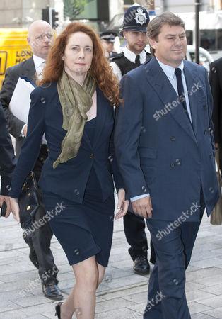 Rebekah Brooks And Her Husband Charlie Arrive At Westminster Magistrates Courta.