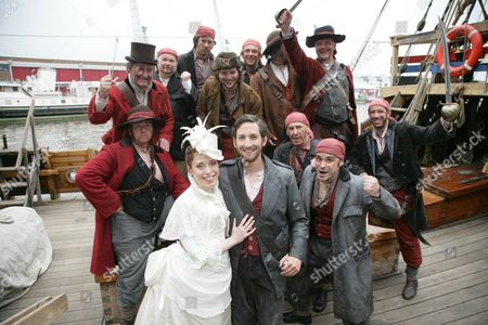 Editorial picture of 'The Pirates of Penzance' play photocall on The Matthew Bristol Docks for The Bristol Hippodrome, Britain - 18 Jun 2013