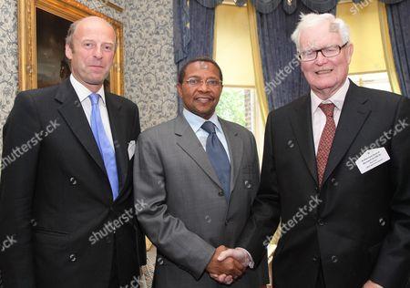 Chairman First Magazine Rupert Goodman(L), President of the United Republic of Tanzania Jakaya Mrisho Kikwete and Douglas Hurd