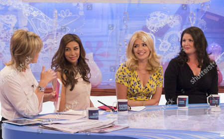 Ruth Langsford, Shobna Gulati with Holly Willoughby and Kelly Willoughby