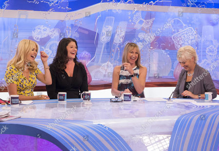Holly Willoughby and Kelly Willoughby with Carol McGiffin and Denise Welch.