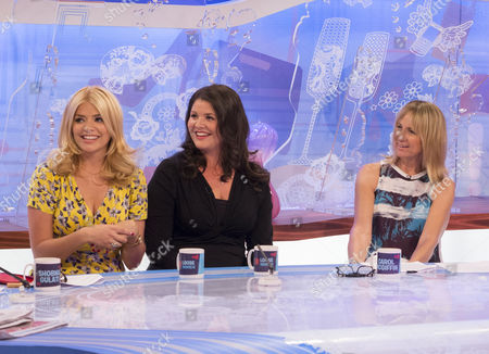 Holly Willoughby and Kelly Willoughby with Carol McGiffin
