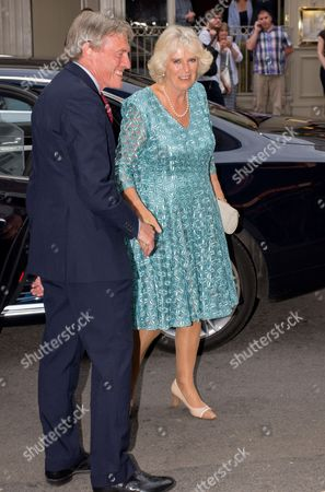 Stock Image of Sir Tim Stevenson and Camilla Duchess of Cornwall