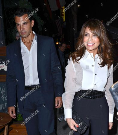 Stock Picture of John Caprio and Paula Abdul