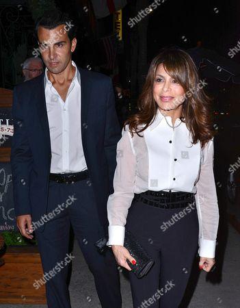 Stock Photo of John Caprio and Paula Abdul