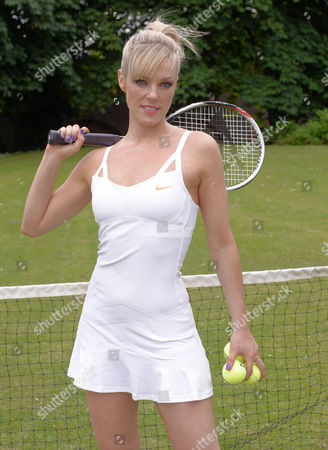 Stock Image of Bowie Jane with a tennis racquet