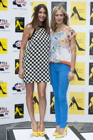 Lisa Snowdon and author Lauren Weisberger