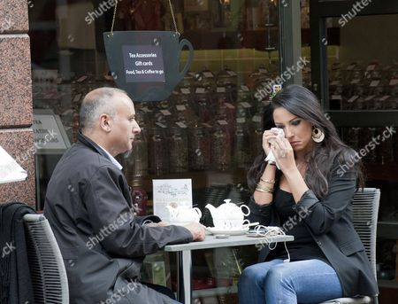 Editorial photo of Carol Anthony Outside Oolong Flower Power Tea Shop, Dublin, Ireland - 17 Jun 2013