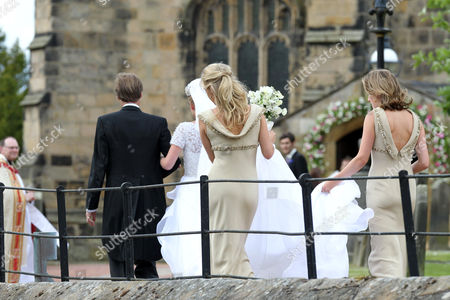 Editorial photo of The wedding of Lady Melissa Percy and Thomas van Straubenzee, St Mary's Church, Alnwick, Northumberland, Britain - 22 Jun 2013