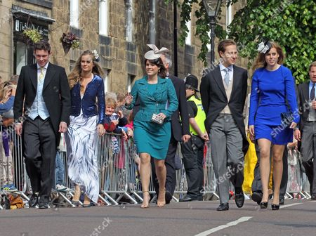 Jack Brooksbank, Cressida Bonas, Princess Eugenie, Dave Clarke and Princess Beatrice