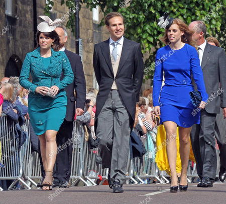 Princess Eugenie, Dave Clarke and Princess Beatrice