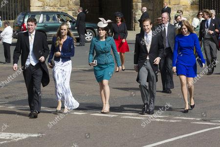 Jack Brooksbank, Princess Beatrice, Princess Eugenie, Dave Clark and Cressida Bonas