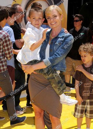 Jaime Pressly with son Dezi James Calvo