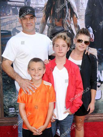 Natalie Maines, husband Adrian Pasdar and family